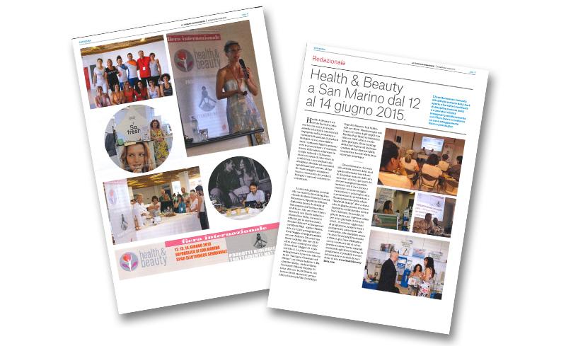 Health & beauty a San Marino dal 12 al 14 giugno 2015