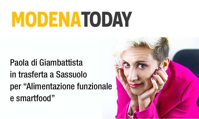 """""""Alimentazione funzionale e smart food"""", la naturopata Paola Di Giambattista a Sassuolo"""
