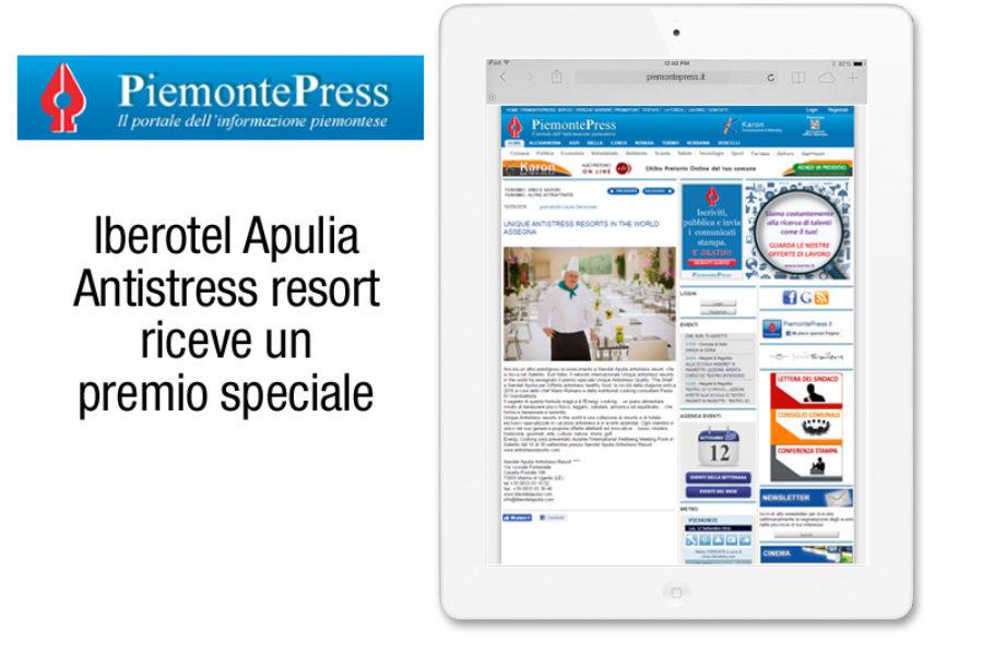 Vivosal Apulia Antistress resort riceve un premio speciale