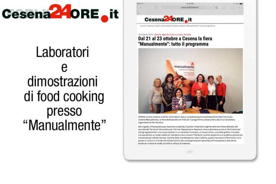 """Laboratori  e dimostrazioni  di food cooking presso """"Manualmente"""""""