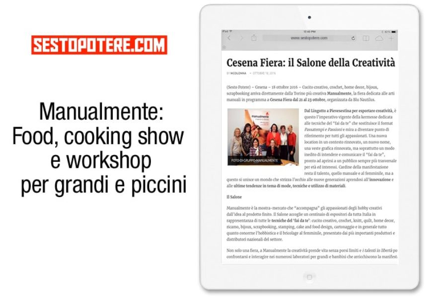 Manualmente: Food, cooking show e workshop per grandi e piccini