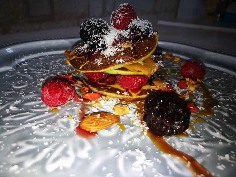 Pancake proteico con farina di piselli