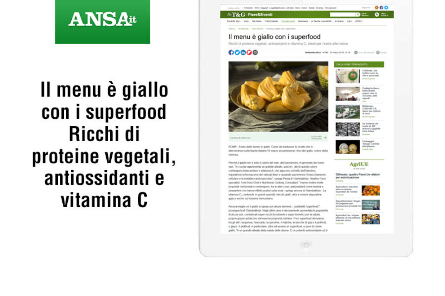 Il menu è giallo con i superfood