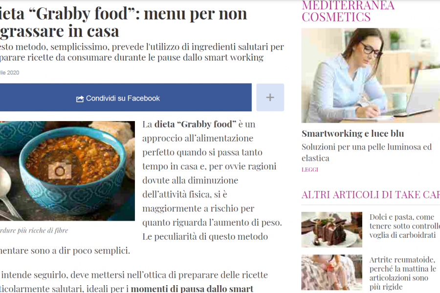 """Grabby food"": menu per non ingrassare in casa – DiLei.it"