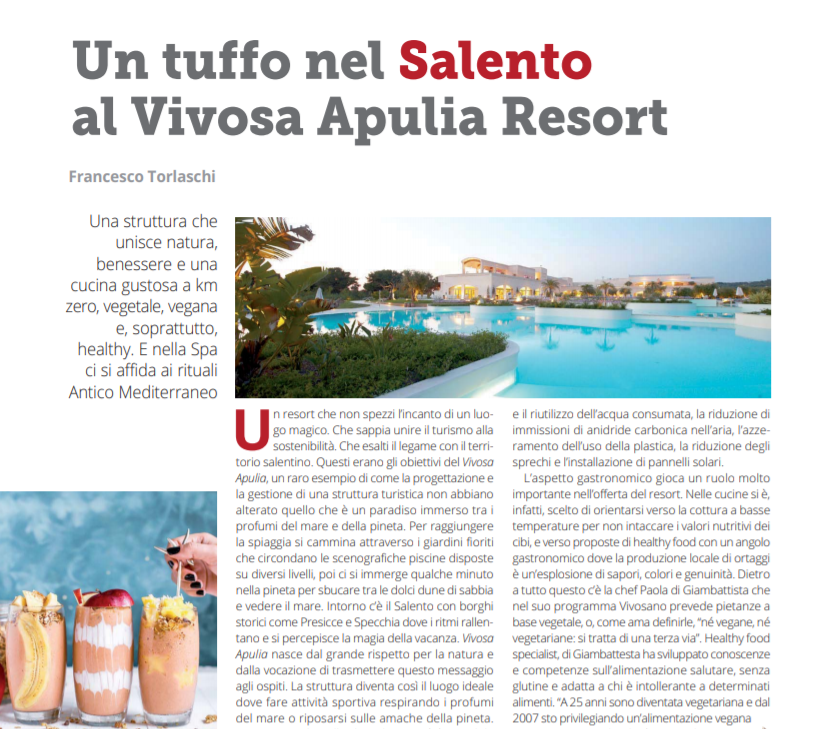 Food & Beverage – L'esperienza del Vivosa Apulia Resort