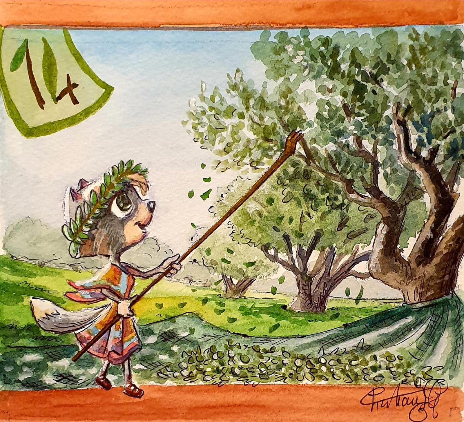 O come Olio di Oliva Calendario dell'Avvento